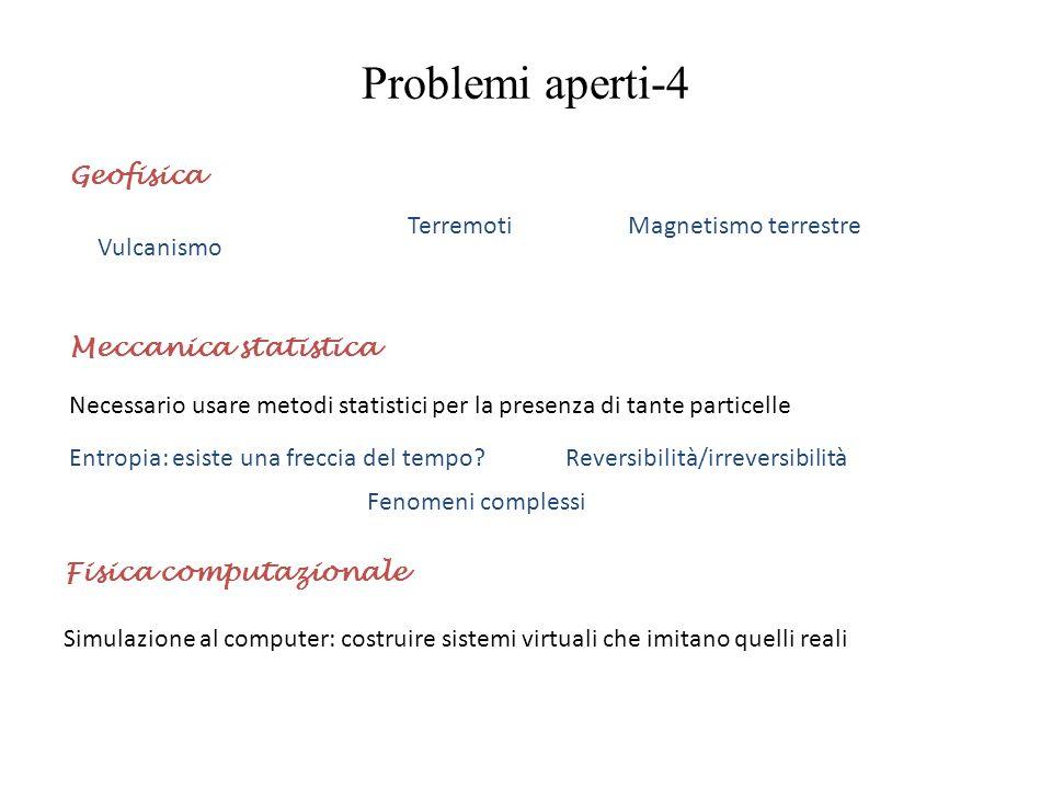 Problemi aperti-4 Geofisica Terremoti Magnetismo terrestre Vulcanismo