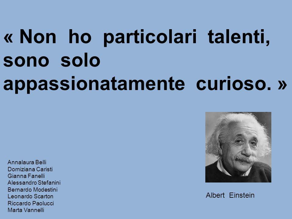 « Non ho particolari talenti, sono solo appassionatamente curioso. »