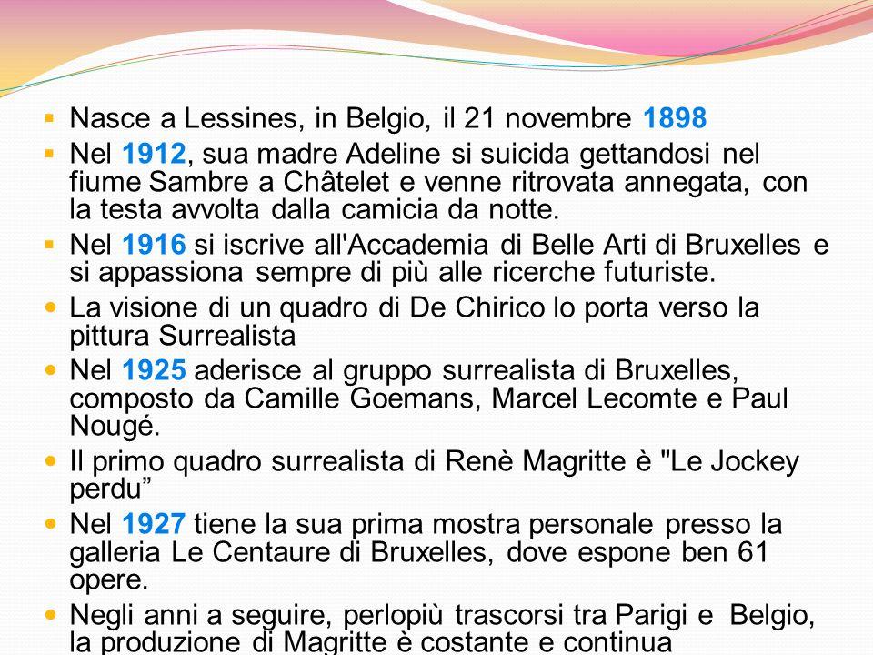 Nasce a Lessines, in Belgio, il 21 novembre 1898
