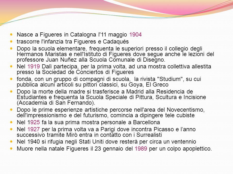 Nasce a Figueres in Catalogna l 11 maggio 1904