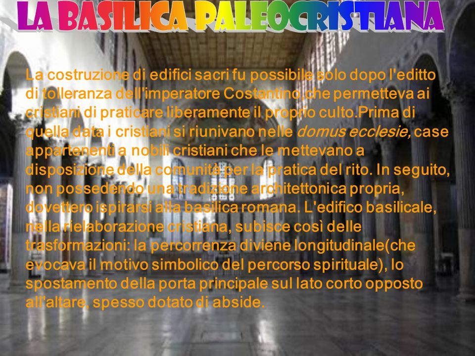 LA BASILICA PALEOCRISTIANA