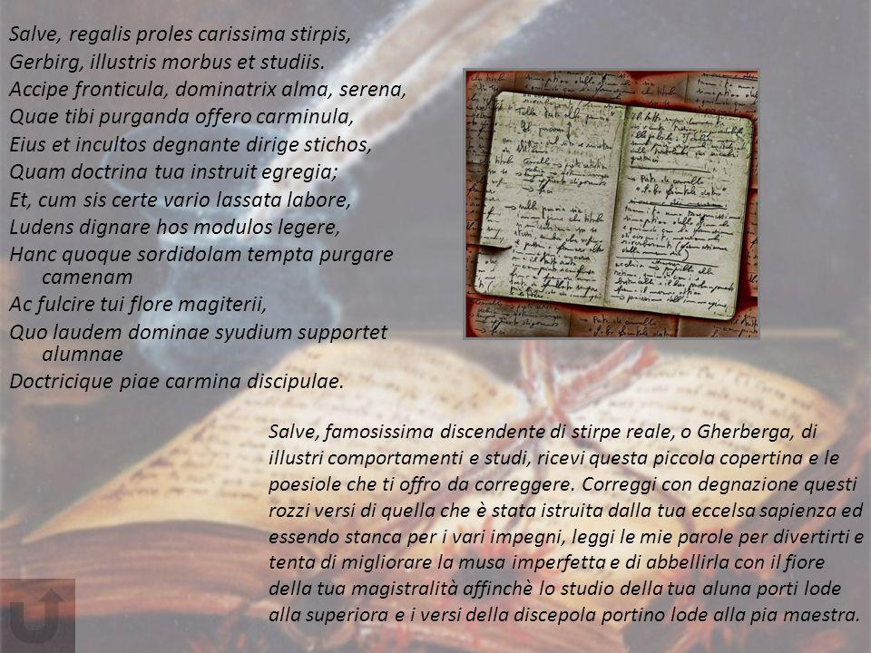 Salve, regalis proles carissima stirpis,