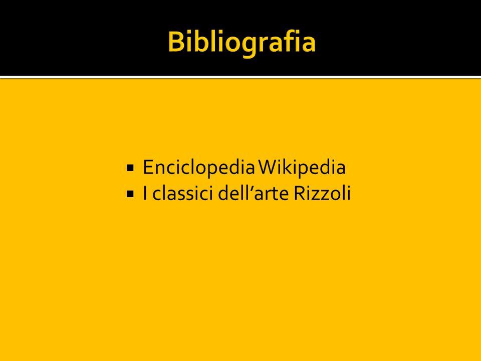 Bibliografia Enciclopedia Wikipedia I classici dell'arte Rizzoli