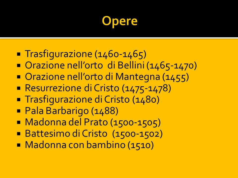 Opere Trasfigurazione (1460-1465)