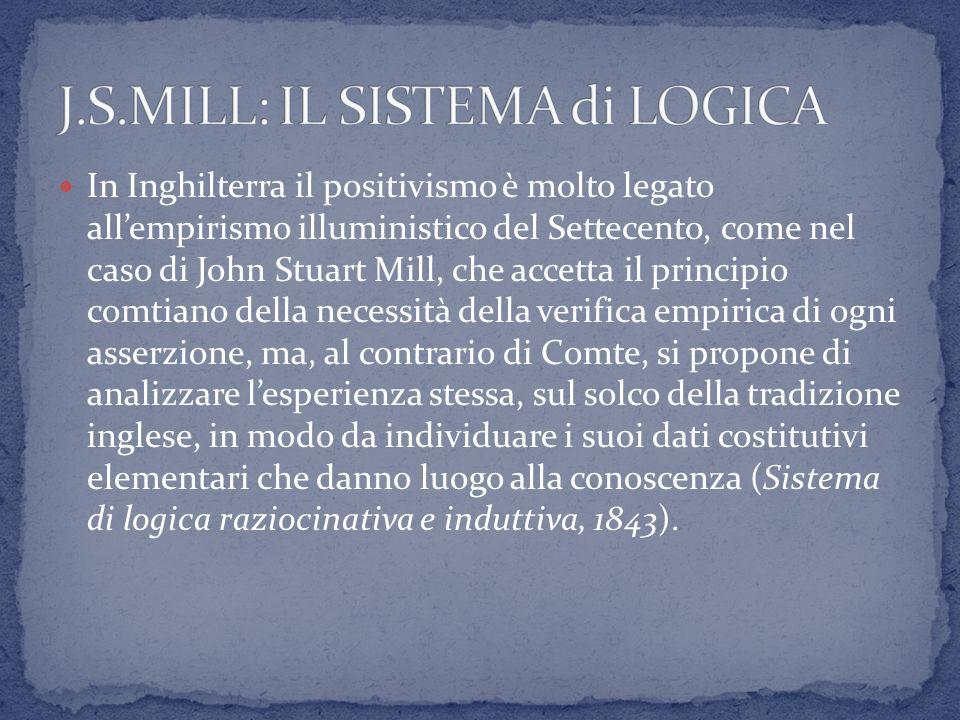 J.S.MILL: IL SISTEMA di LOGICA