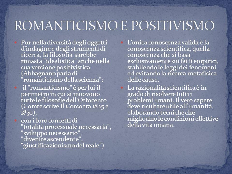 ROMANTICISMO E POSITIVISMO