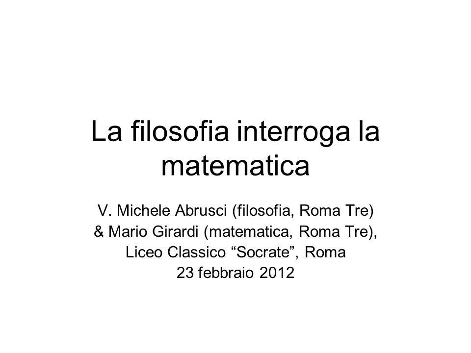 La filosofia interroga la matematica