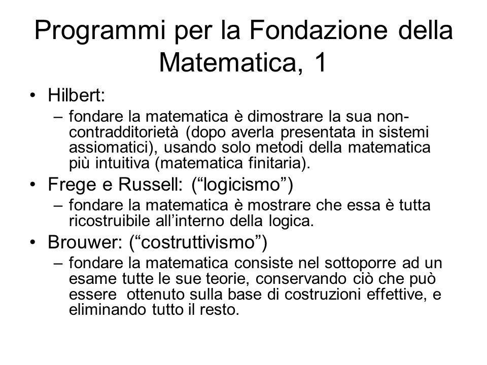Programmi per la Fondazione della Matematica, 1