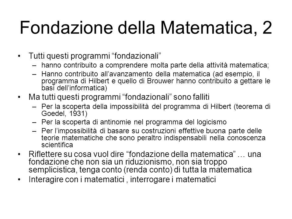 Fondazione della Matematica, 2