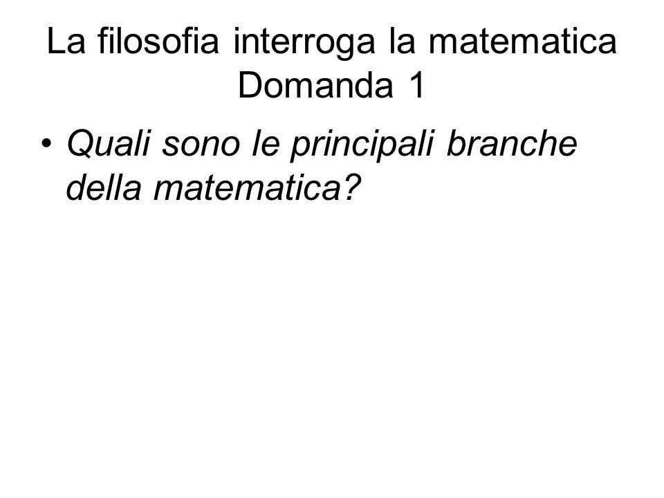 La filosofia interroga la matematica Domanda 1