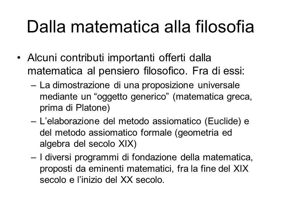 Dalla matematica alla filosofia