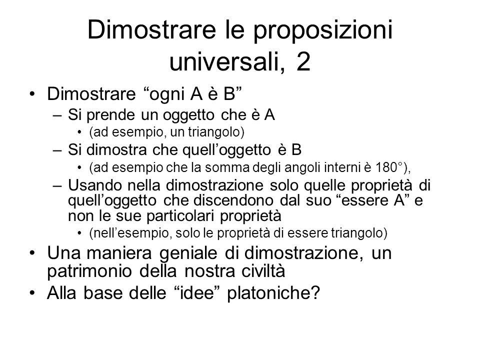 Dimostrare le proposizioni universali, 2