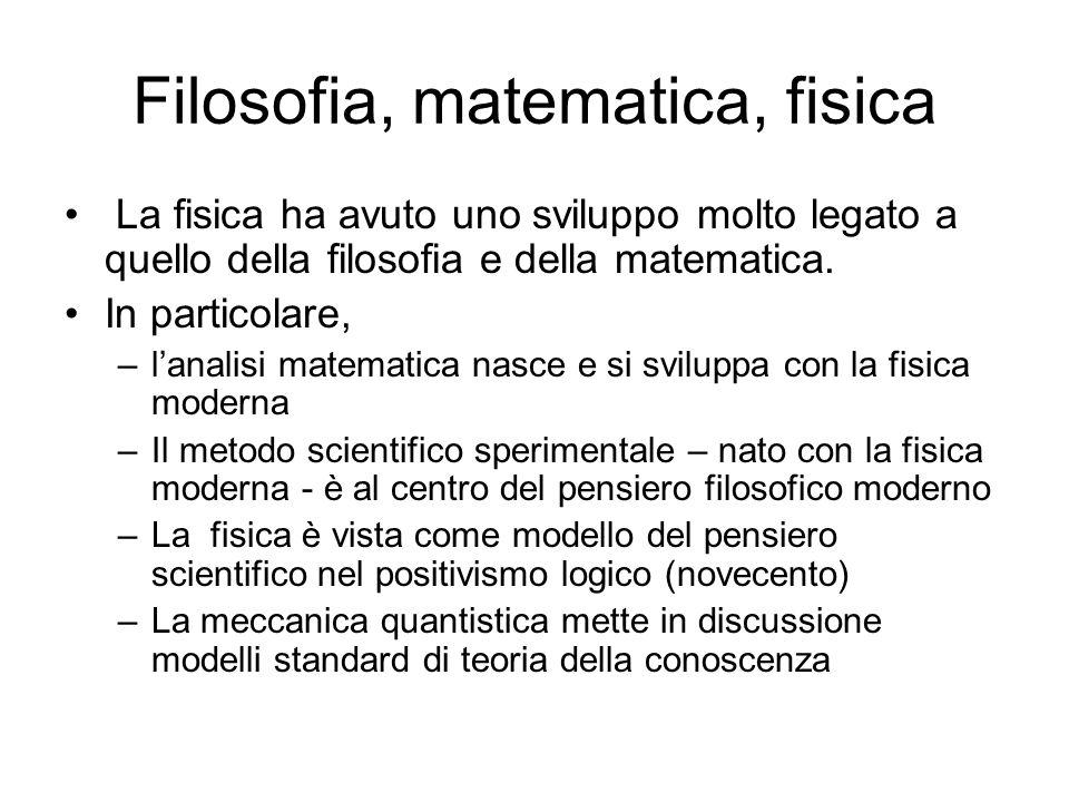 Filosofia, matematica, fisica