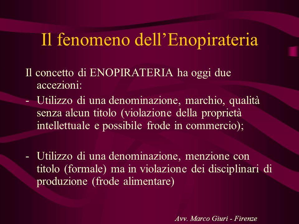 Il fenomeno dell'Enopirateria