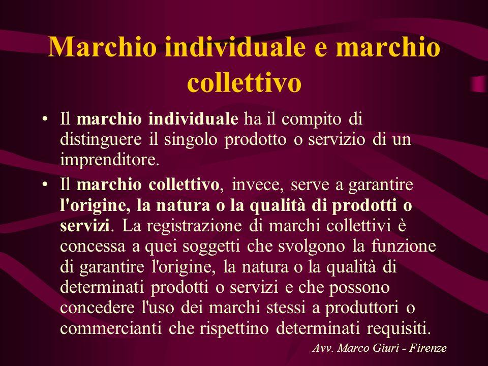 Marchio individuale e marchio collettivo