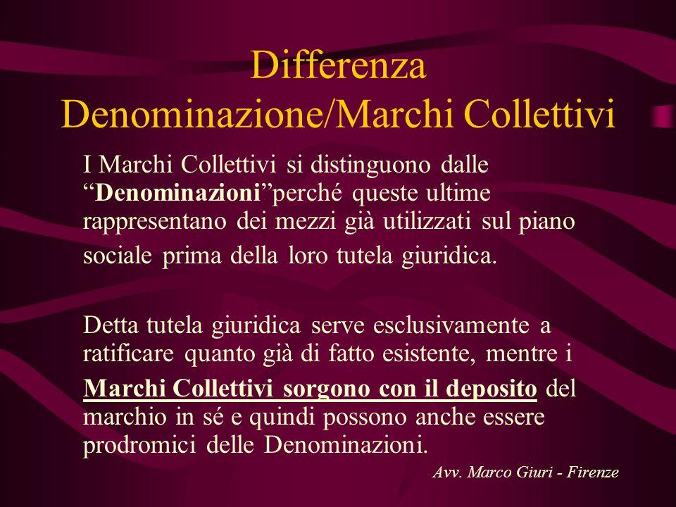 Differenza Denominazione/Marchi Collettivi