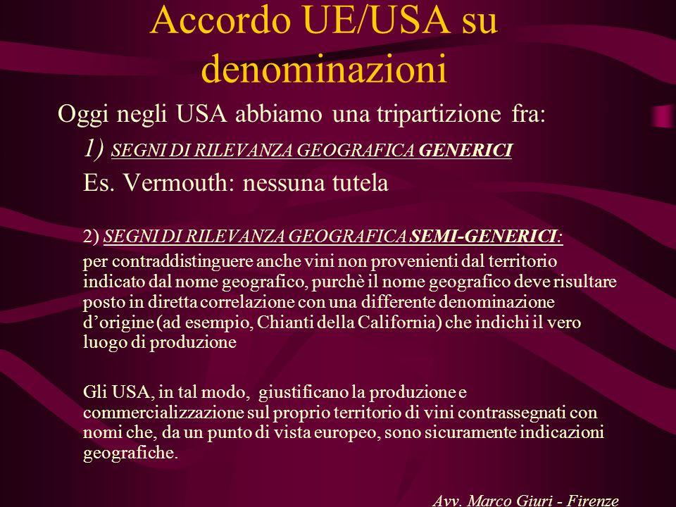 Accordo UE/USA su denominazioni