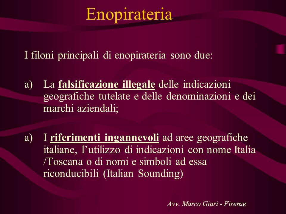 Enopirateria I filoni principali di enopirateria sono due: