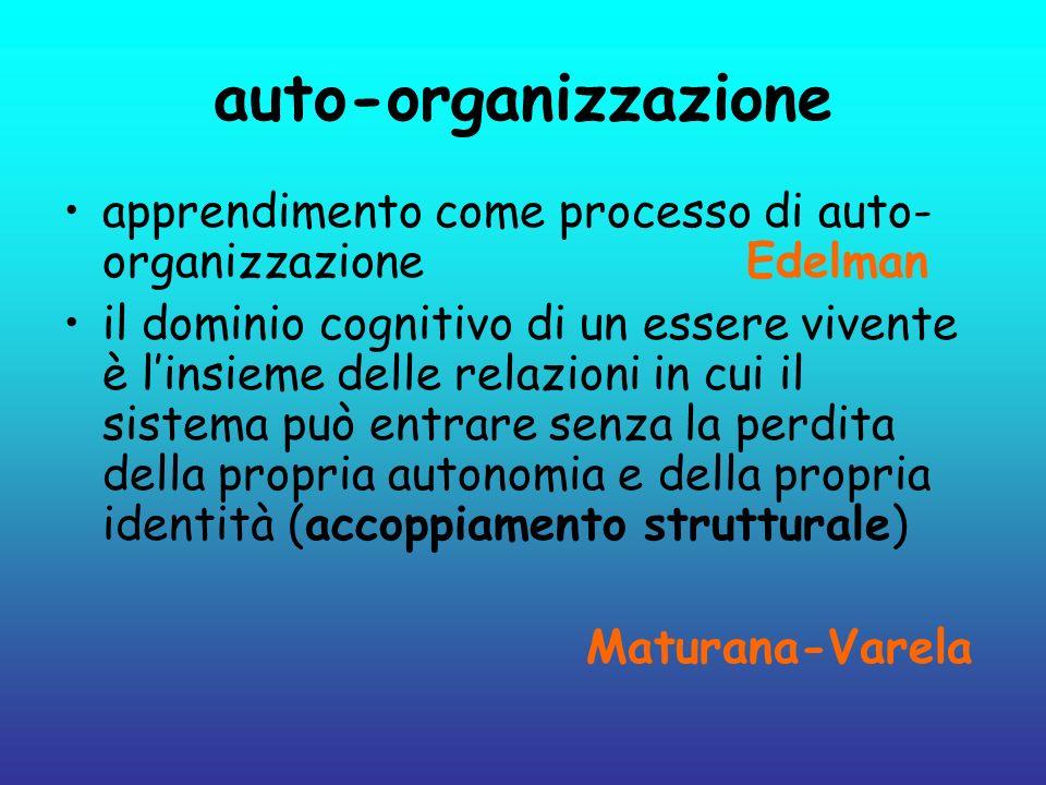 auto-organizzazioneapprendimento come processo di auto-organizzazione Edelman.