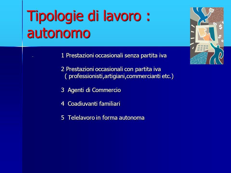 Tipologie di lavoro : autonomo