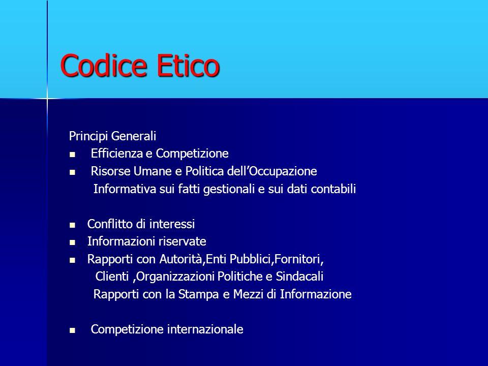 Codice Etico Principi Generali Efficienza e Competizione
