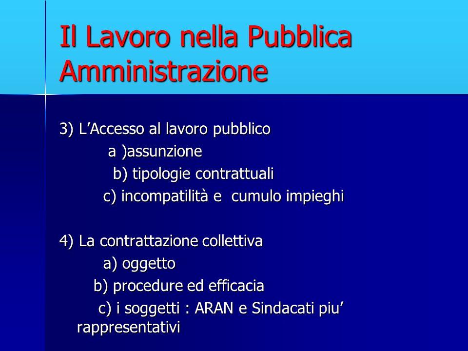 Il Lavoro nella Pubblica Amministrazione