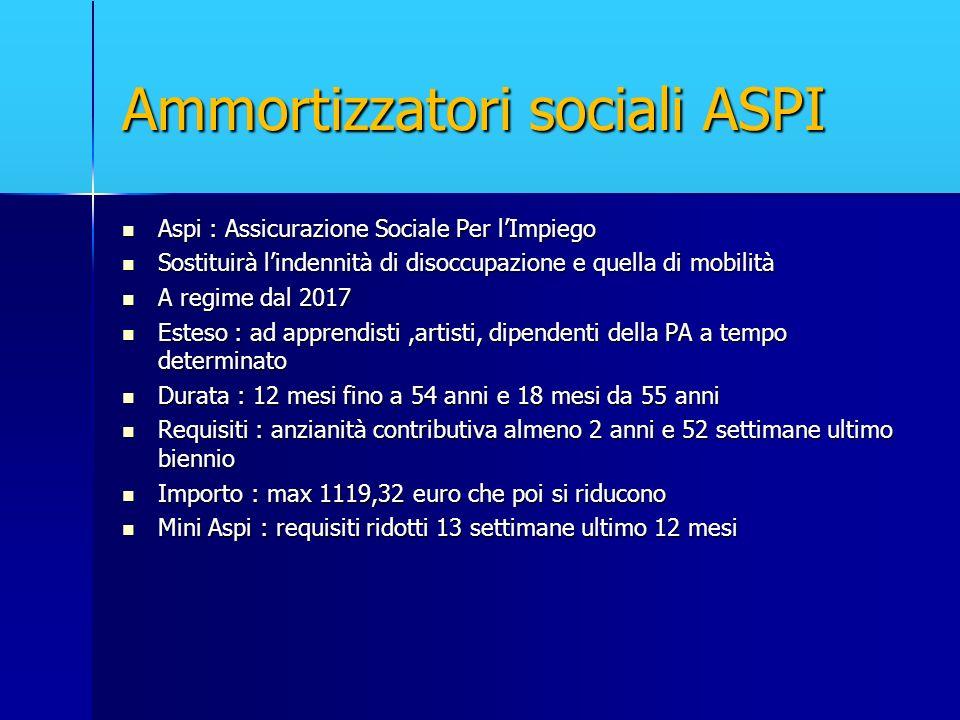 Ammortizzatori sociali ASPI