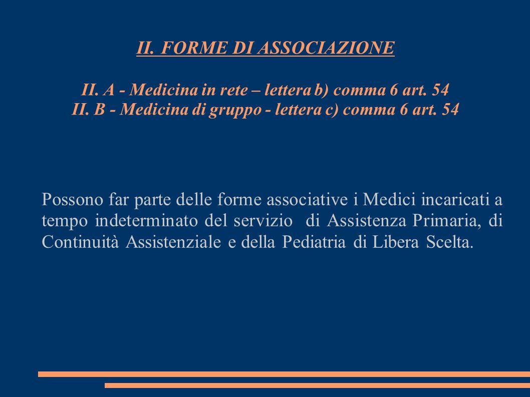 II. FORME DI ASSOCIAZIONE II