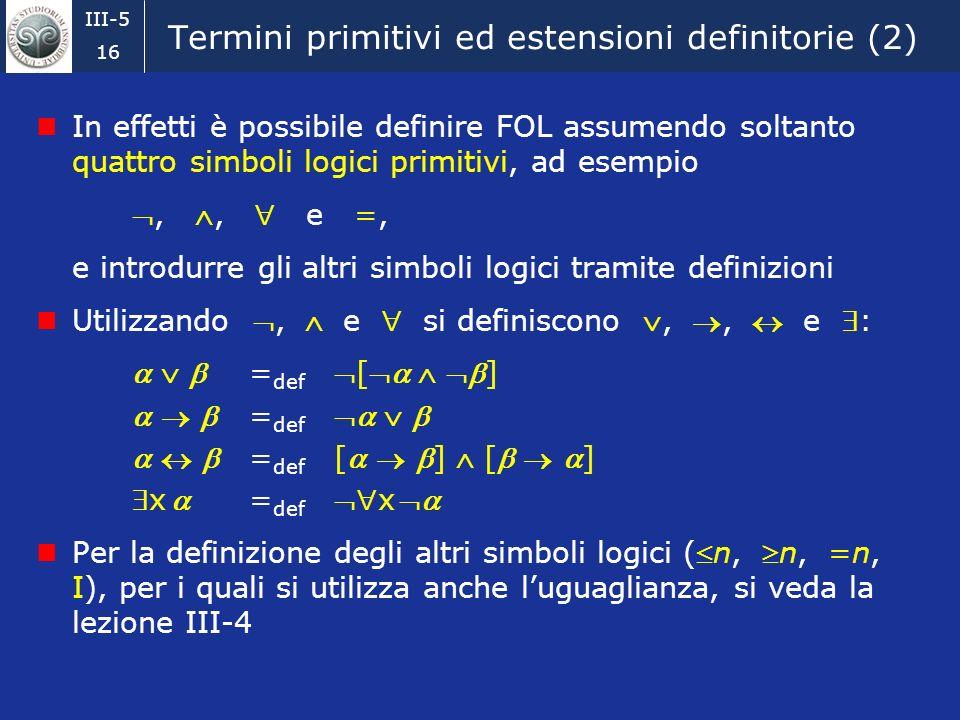 Termini primitivi ed estensioni definitorie (2)