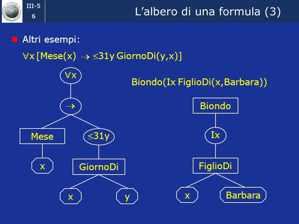 L'albero di una formula (3)