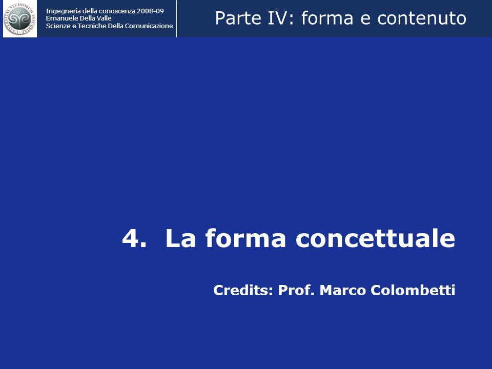4. La forma concettuale Credits: Prof. Marco Colombetti