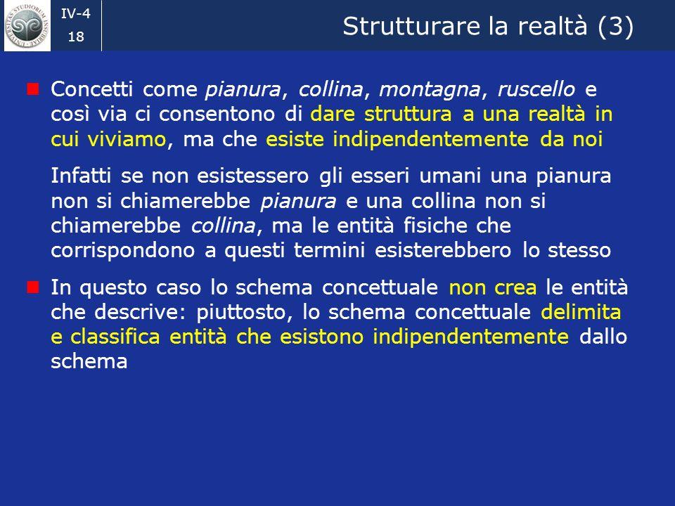 Strutturare la realtà (3)