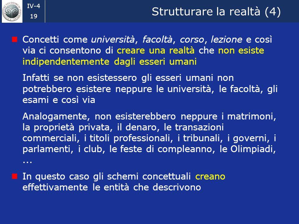 Strutturare la realtà (4)