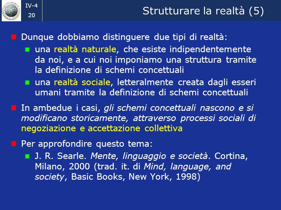 Strutturare la realtà (5)