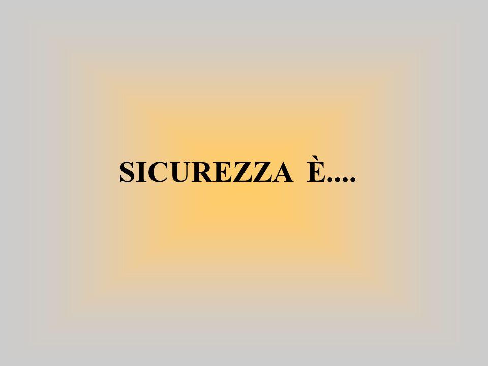 SICUREZZA È....