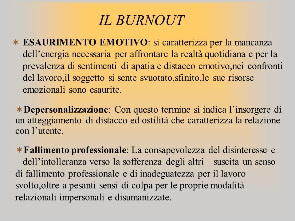 IL BURNOUT