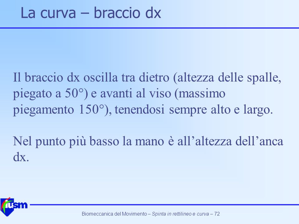 La curva – braccio dx