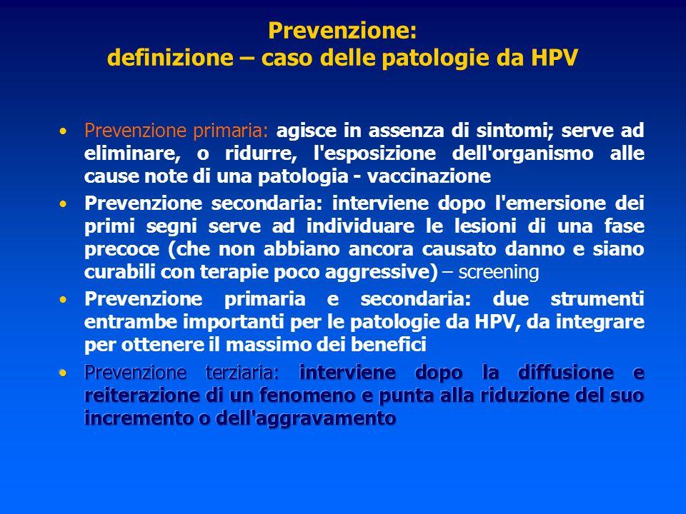 Prevenzione: definizione – caso delle patologie da HPV