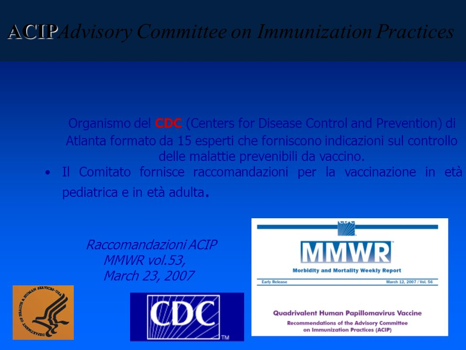 ACIPAdvisory Committee on Immunization Practices