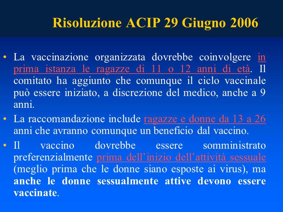 Risoluzione ACIP 29 Giugno 2006