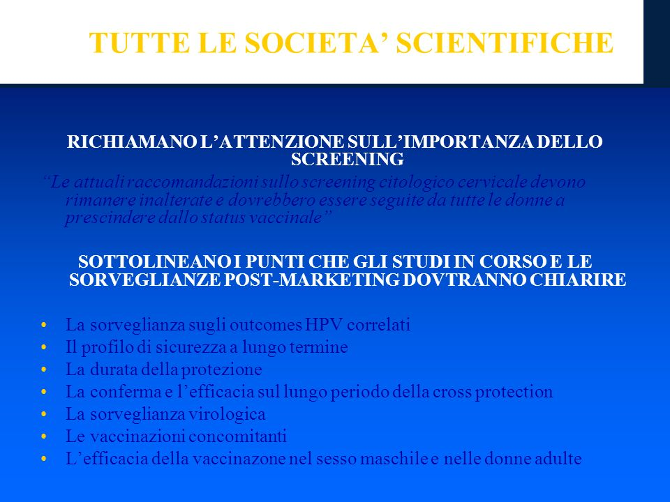 TUTTE LE SOCIETA' SCIENTIFICHE