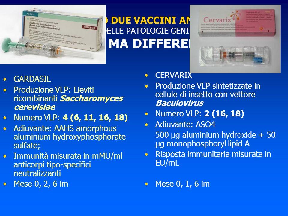 ABBIAMO DUE VACCINI ANTI HPV PER LA PREVENZIONE DELLE PATOLOGIE GENITALI HPV CORRELATE SIMILI MA DIFFERENTI !!!