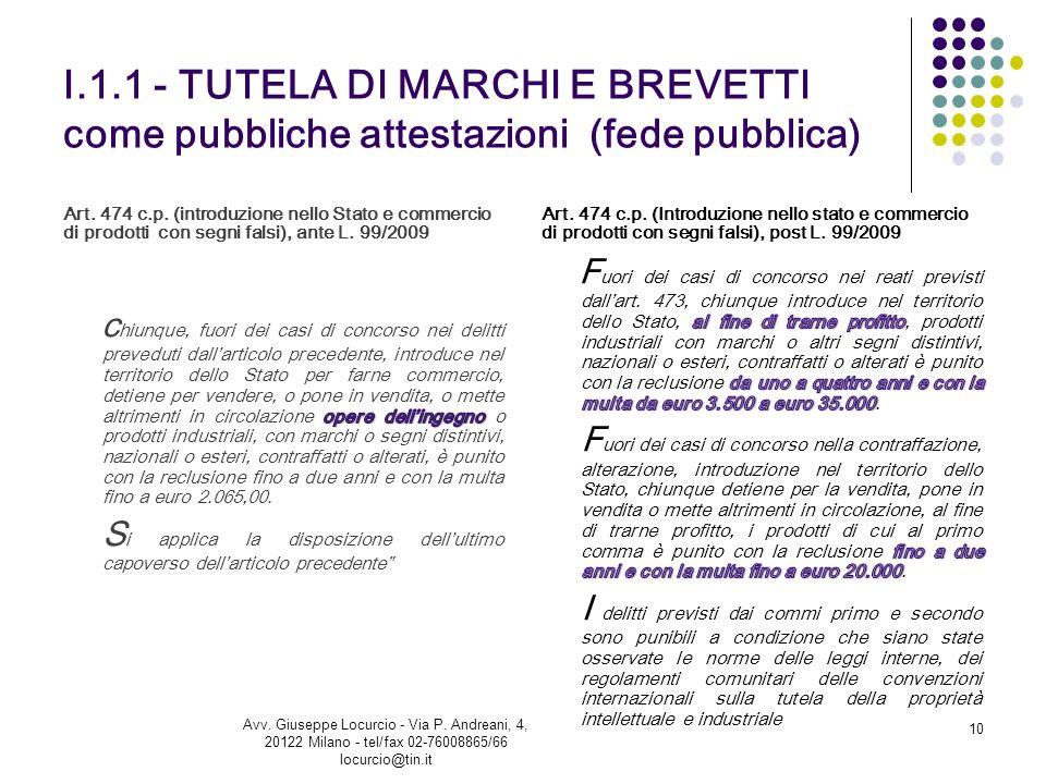 Avv. Giuseppe Locurcio - via P. Andreani, 4 - 20122 Milano - tel. 02