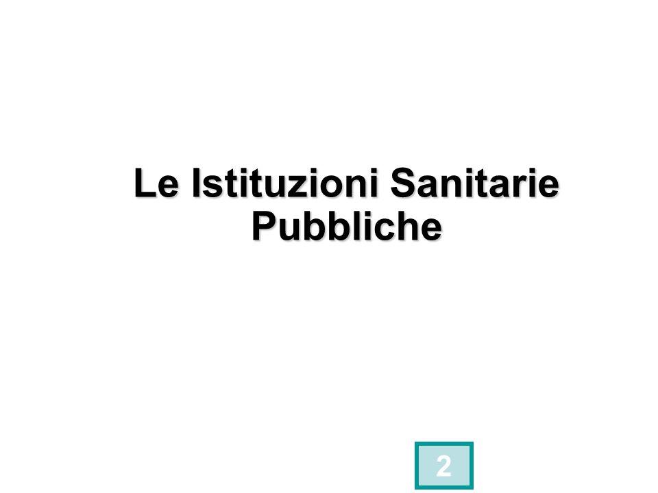 Le Istituzioni Sanitarie Pubbliche