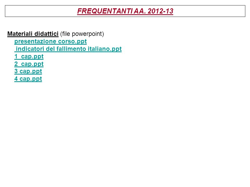 FREQUENTANTI AA