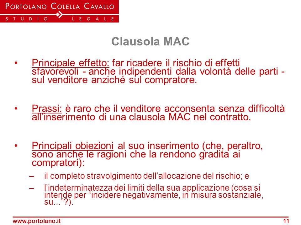 Clausola MAC