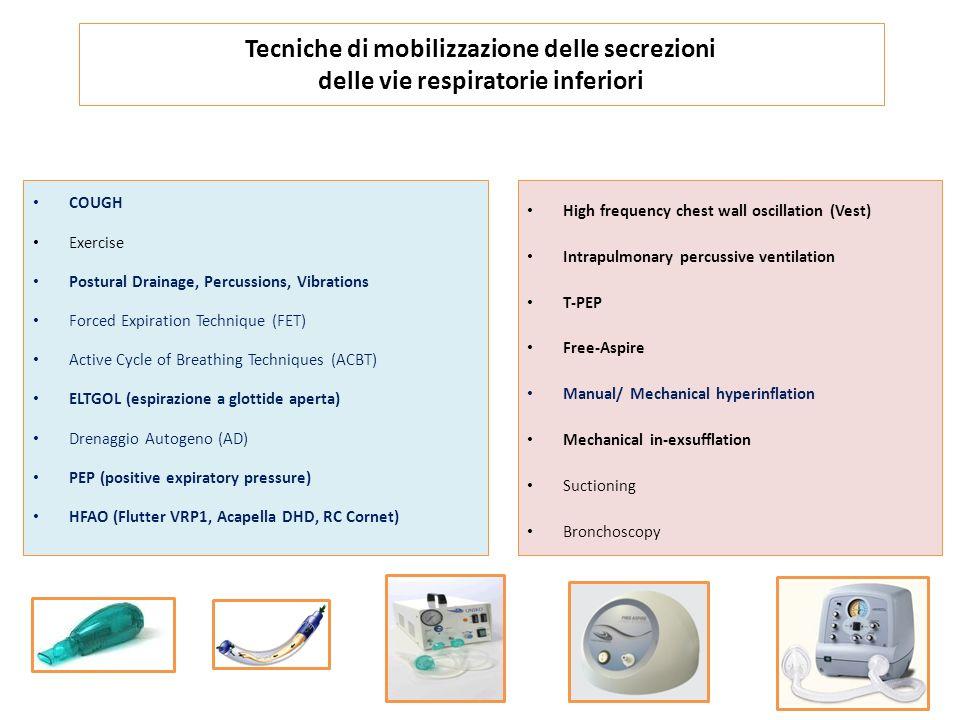 Tecniche di mobilizzazione delle secrezioni delle vie respiratorie inferiori
