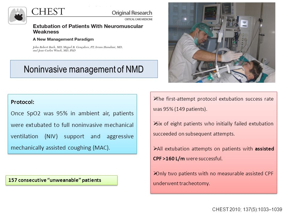Noninvasive management of NMD