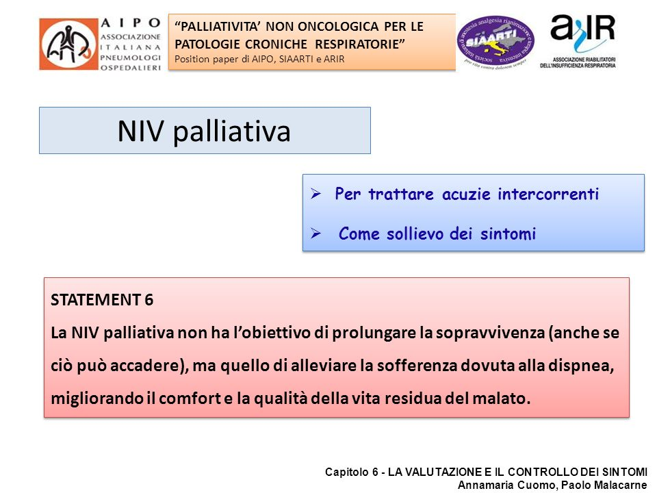 NIV palliativa STATEMENT 6
