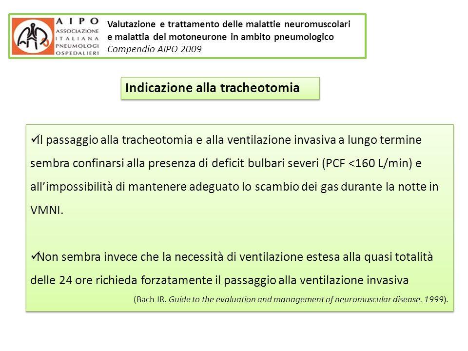 Indicazione alla tracheotomia